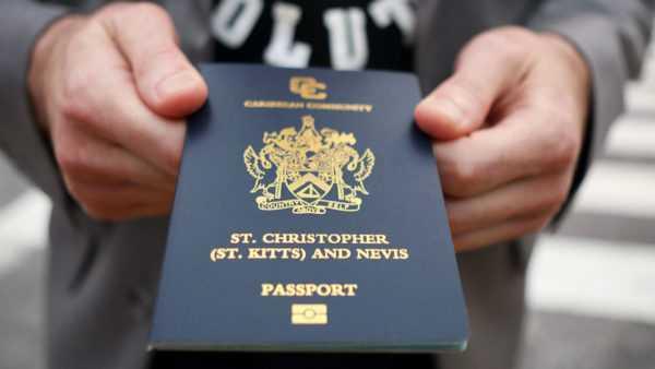 Паспорт гражданина Сент-Китс иНевис
