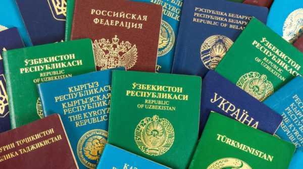 Разные паспорта стран СНГ