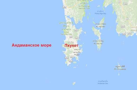 Море на карте