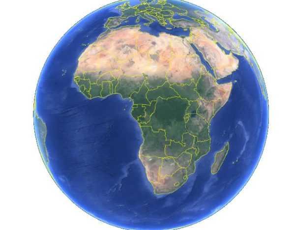 Африка на карте